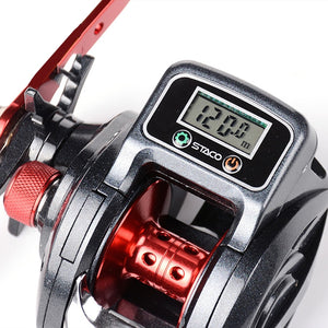 6.3:1 13+1BB Fishing Reel Left / Right Hand Low Profile Line Counter