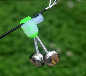 5Pcs Fishing Bell Bite Alarms Fishing Rod Clamp Tip Clip Bells Ring