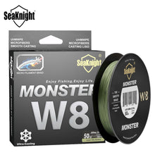 Load image into Gallery viewer, SeaKnight Brand W8 Fishing Line 150M 300M 500M 8 Strands Braided