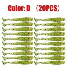 Load image into Gallery viewer, 20pcs/Lot Jig Wobblers Fishing Lures 5cm 0.8g Worm Silicone Artificial Soft Bait