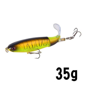 GOBYGO 1PCS Whopper Popper 10cm/14cm Fishing Lure Artificial Bait Hard Plopper Soft Rotating Tail Fishing Tackle Geer Pesca - everything-fishandhunt.com