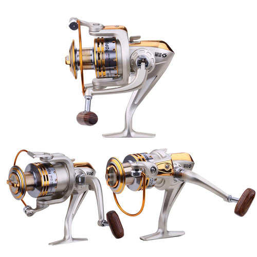 5.1:1 8 Ball Bearings Metal Spinning Fishing Reels Ultra-thin Foldable Hand exchangable - everything-fishandhunt.com