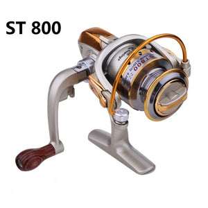 5.1:1 8 Ball Bearings Metal Spinning Fishing Reels Ultra-thin Foldable Hand exchangable