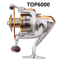 Load image into Gallery viewer, 5.1:1 8 Ball Bearings Metal Spinning Fishing Reels Ultra-thin Foldable Hand exchangable