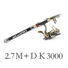 Load image into Gallery viewer, Combo 1.8-3.6m Telescopic Fishing Rod + DK11BB  Travel Fishing Rod