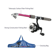 Load image into Gallery viewer, Children's Kids' Fishing Tackle Kit Portable Rod Reel Set with 1.8m Retractable Fishing Bag