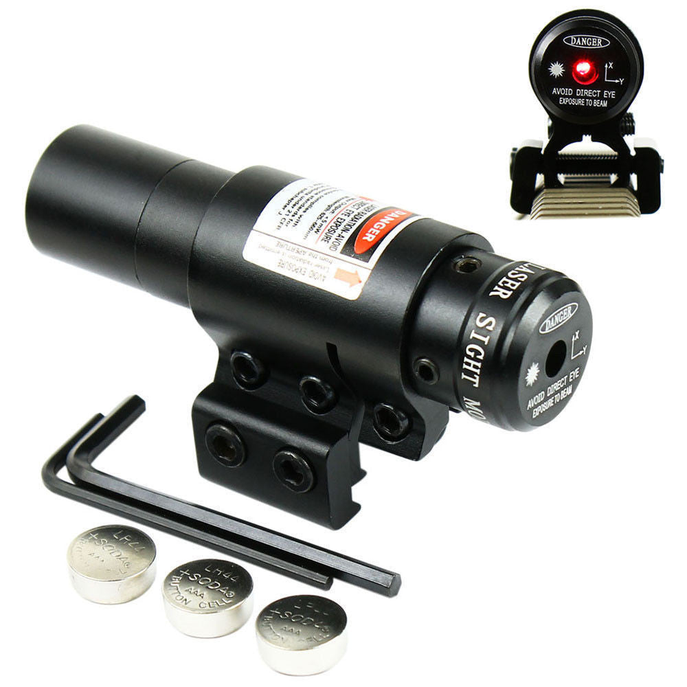 Crossbow 650nm Red Laser Sight W/Scope Cliper Mount For Bow/Rifle - everything-fishandhunt.com