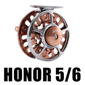 MAXWAY HONOR Fly Fishing Reel 3/4 5/6 7/8 9/10 Interchangeable  3BB 1:1 Aluminum Alloy Fish Gear