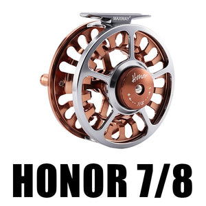 HONOR Fly Fishing Reel 3/4 5/6 7/8 9/10 Interchangeable  3BB 1:1