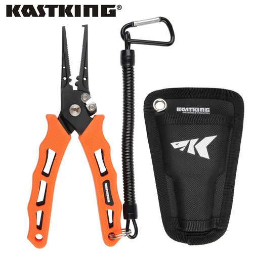 KastKing 420 Stainless Steel Fishing Pliers Tungsten Carbide Braid Cutters - everything-fishandhunt.com