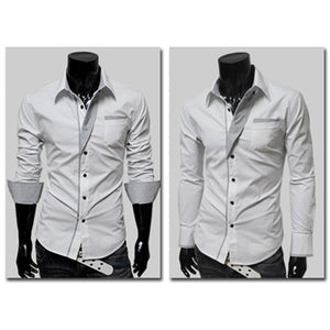 Men's Long Sleeve Formal Fitted Shirts
