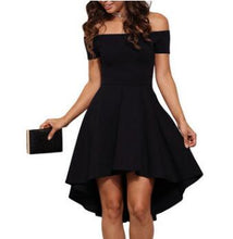Load image into Gallery viewer, Sexy Off the Shoulder Asymmetrical Hem Summer Dress