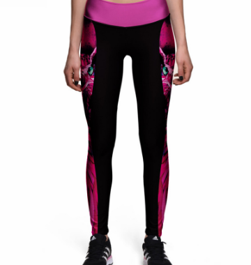 Print personality tight stretch running fitness, dance, and yoga pants