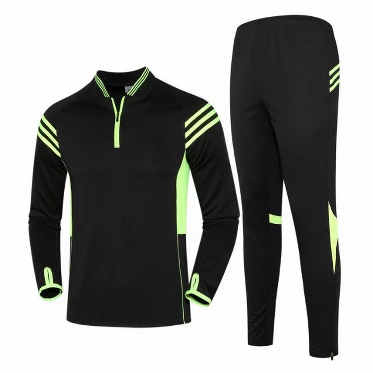 Football suit autumn and winter long sleeved training clothing for men and children