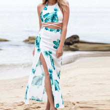 Load image into Gallery viewer, Women's Two Pieces Floral Print Beach Dress