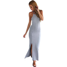 Load image into Gallery viewer, USA Size Sexy slim backless long beach dress