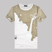 Load image into Gallery viewer, T-shirt men's full sky and milk short sleeved milk pattern advertising shirts customized