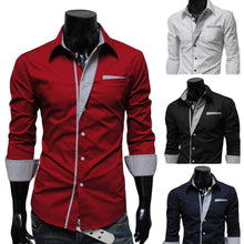 Load image into Gallery viewer, Men's Long Sleeve Formal Fitted Shirts