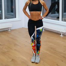 Load image into Gallery viewer, Printed Skinny Fitness Leggings