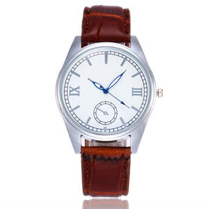 New Women Men Watch Fashion Casual Leather Strap Quartz Wrist Watch