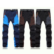 Load image into Gallery viewer, Men Waterproof Windproof Outdoor Sports Warm Winter Thick Pants Trousers