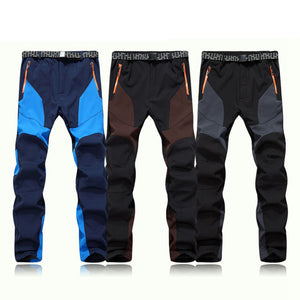 Men Waterproof Windproof Outdoor Sports Warm Winter Thick Pants Trousers