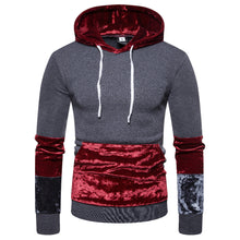 Load image into Gallery viewer, Fashion Street Style Stitching Design Print Men Hoodie