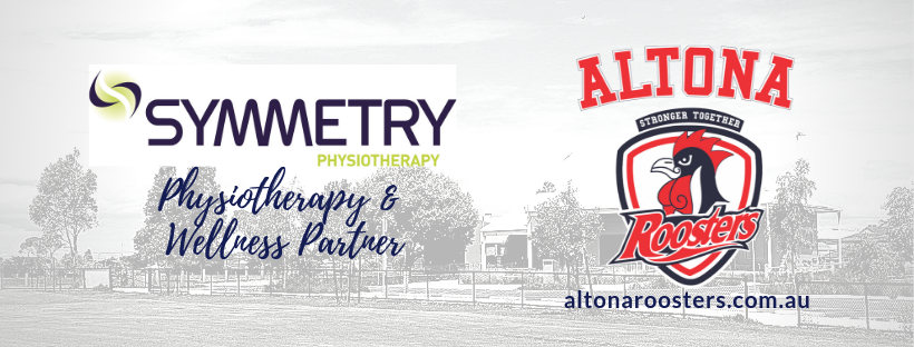 Symmetry Physiotherapy partnership secured for the Altona Roosters for 2019 season.