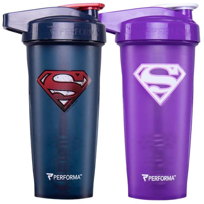Bundle 2 Pack, ACTIV Shaker Cups, 28oz (800mL), Superman & Supergirl, Performa Canada