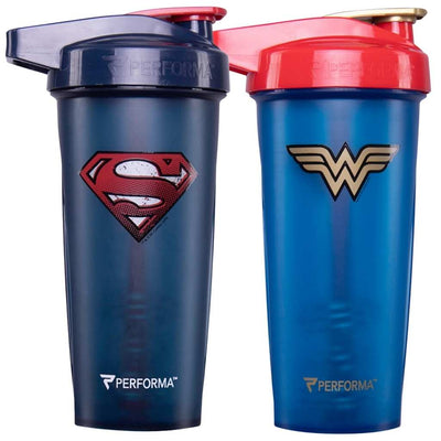 Bundle 2 Pack, ACTIV Shaker Cups, 28oz (800mL), Superman & Wonder Woman, Performa Canada