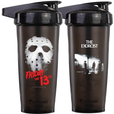 BUNDLE 2 PACK, ACTIV Shaker Cups, 28oz (800mL), Friday the 13th & The Exorcist, Performa Canada