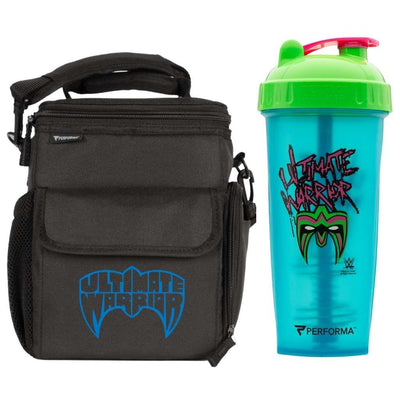 Bundle 2 Pack, 3 Meal Cooler Bag & 28oz, CLASSIC Shaker Cup, Ultimate Warrior, Performa Canada