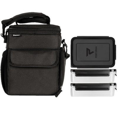 3 Meal Cooler Bag, Black, Performa Canada