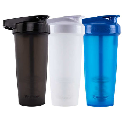 Bundle 3 Pack, ACTIV Shaker Cups, 28oz (800mL), Black & White & Blue, Performa Canada