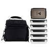 PERFORMA™ MATRIX 6 Meal Cooler Bag - Performa Collection: Black on Black