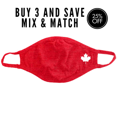 Cloth Face Mask, Red, Maple Leaf, Performa Canada