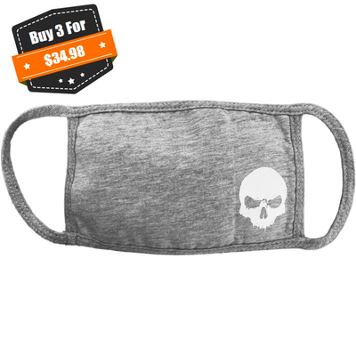 Cloth Face Mask, Grey, SkullCrusher, Performa