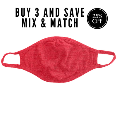 Cloth Face Mask, Red, Performa Canada