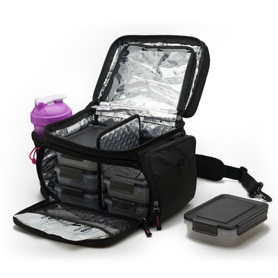PERFORMA™ MATRIX™ All in One 6 Meal Prep Bag - Pink/Black