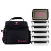 PERFORMA™ MATRIX 6 Meal Cooler Bag - Performa Collection: Pink on Black