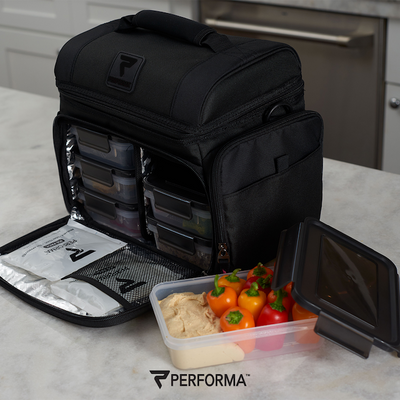 PERFORMA Meal Container (Black on Black), 710ml  / 3 Cups / 24oz