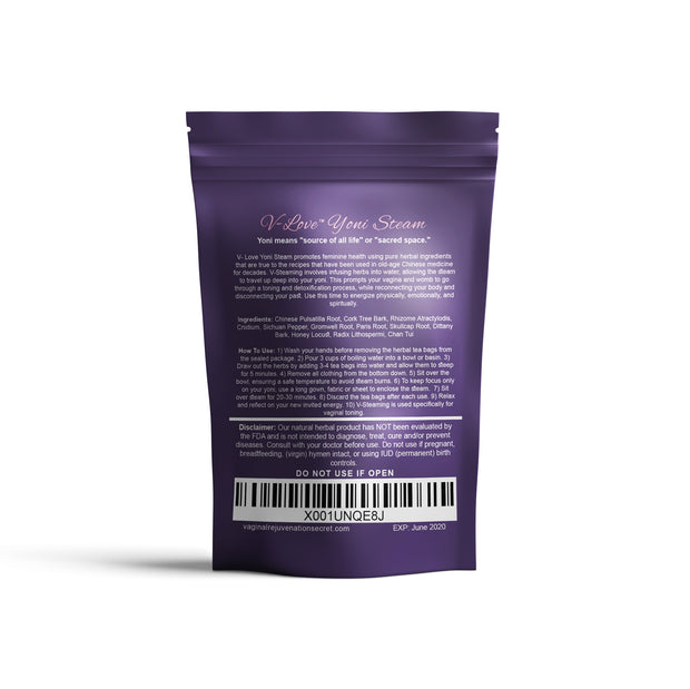 V-Love Yoni® Steam (12 Bags=3 Steams) | Vaginal Rejuvenation V-Love Yoni™ by Body Adore Health LLC