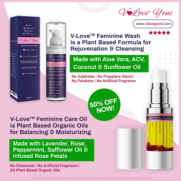 Yoni Oil & Wash by V-Love Yoni™ V-Lovers Special Bundle 50% OFF Sale