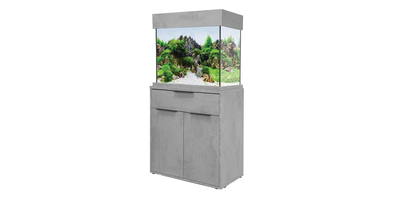 Aquaone oakstyle 110 industrial concrete fish tank