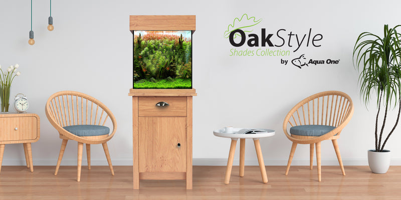 Aquaone Oakstyle Shades 85 Fish Tank Aquarium Set