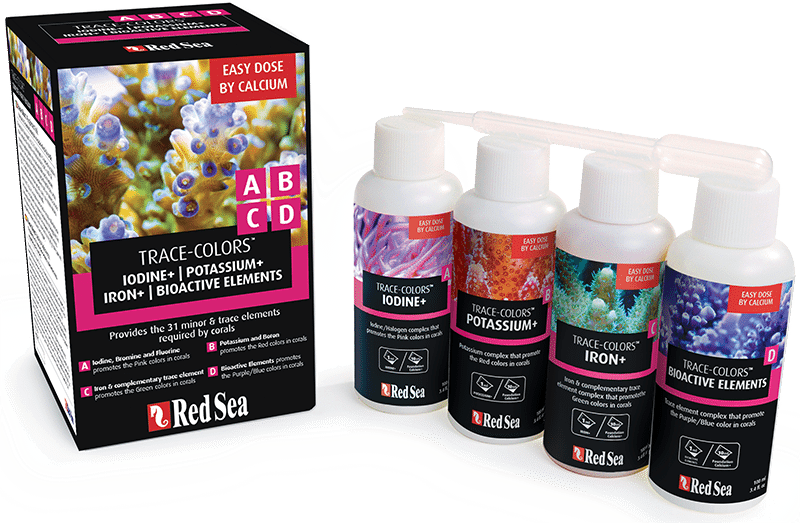 Red sea coral trace colours 4 pack