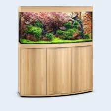 Juwel vision 260 bow front fish tank aquarium set oak light wood