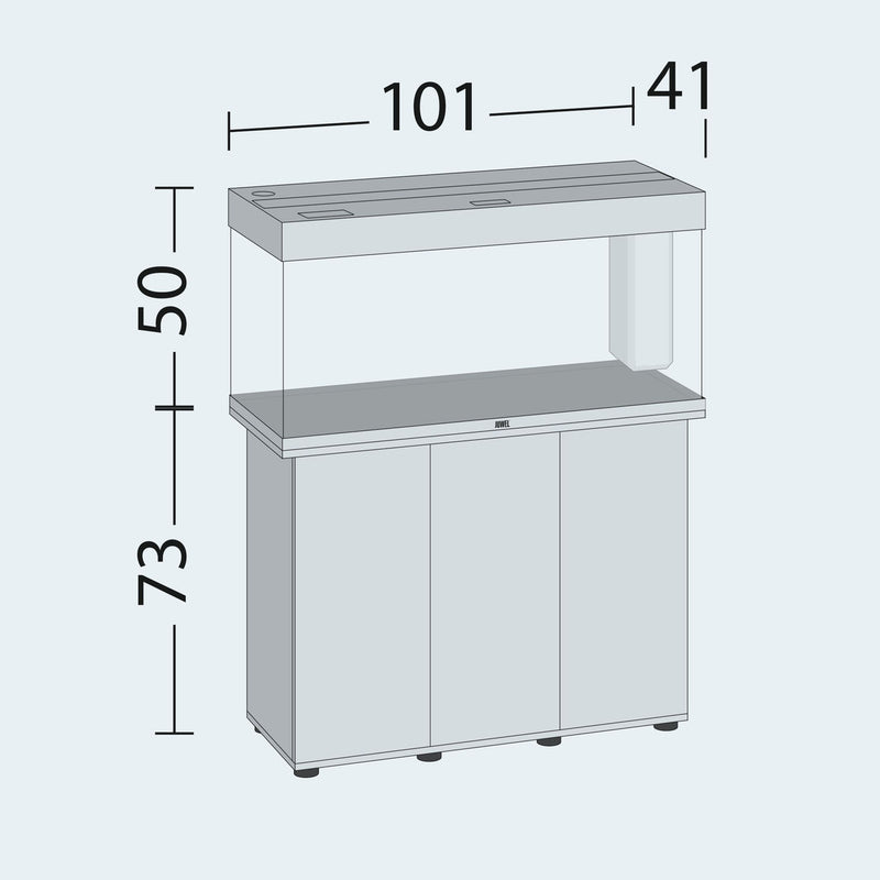 Juwel Rio 180 tank and cabinet dimensions