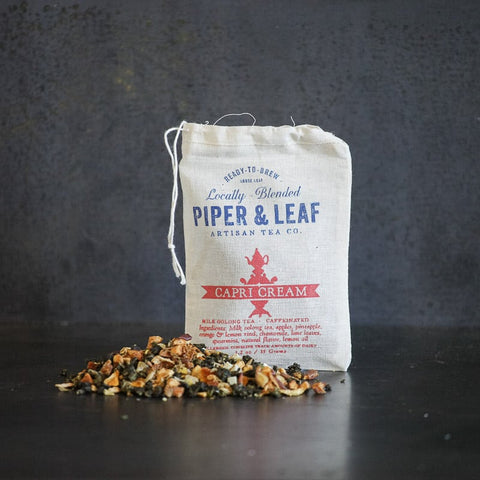 Piper & Leaf Capri Cream tea in Muslin bag with loose leaf tea