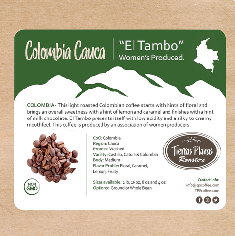 "Colombia Cauca ""El Tambo"" Women's Produced (2020)"
